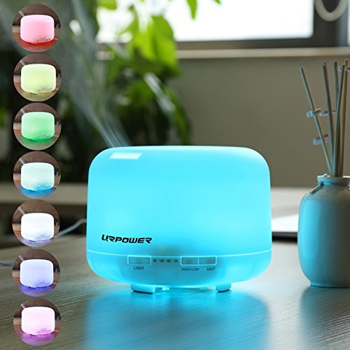 500ml Aroma Essential Oil Diffuser,URPOWER® Ultrasonic Air Humidifier