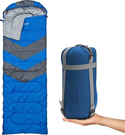 Sleeping Bag - Envelope Lightweight Portable, Waterproof, Comfort