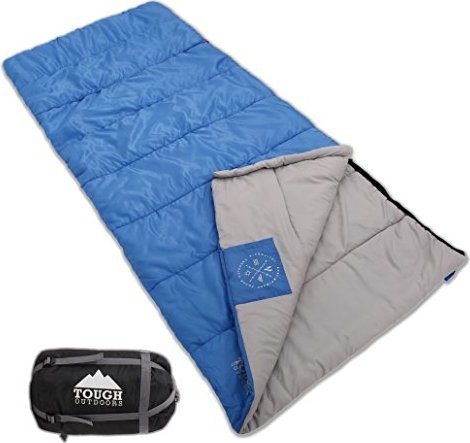 Envelope Sleeping Bag with Compression Sack - Perfect